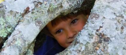 Child peeking