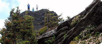 hikers on ridge