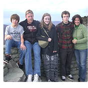 The Pribble family at Grandfather Mountain. From left, Nathan, William, Kit, Carson and Robin Pribble.
